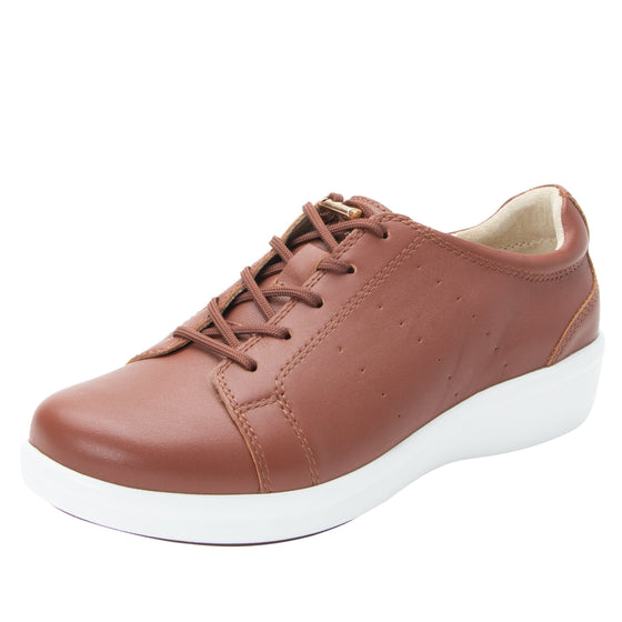 Cliq Tobacco lace up smart shoes with Q-chip™ technology. CLI-5226_S1