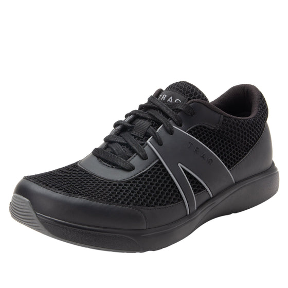 Qarma Paths Black smart shoes with q-chip technology. QAR-M7009_S1