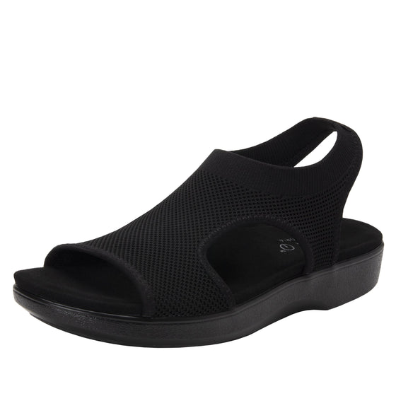Qeen Black Out slip on sandal with Q-chip™ technology. QEE-5004_S1