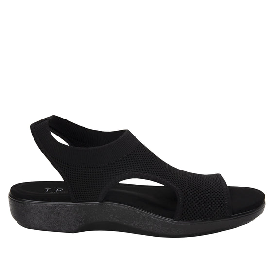 Qeen Black Out slip on sandal with q-chip technology. QEE-5004_S2