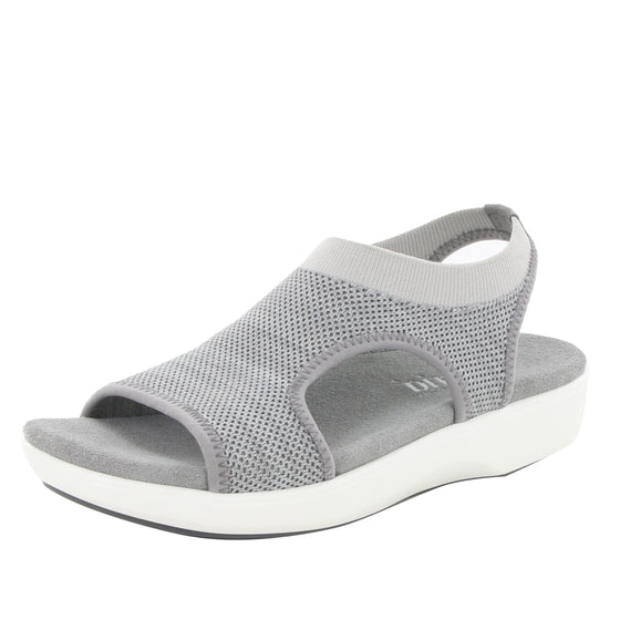 Qeen Grey slip on sandal with Q-chip™ technology. QEE-5021_S1