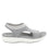 Qeen Grey slip on sandal with Q-chip™ technology. QEE-5021_S2