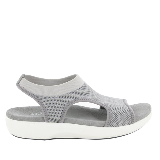 Qeen Grey slip on sandal with q-chip technology. QEE-5021_S2