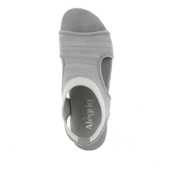 Qeen Grey slip on sandal with Q-chip™ technology. QEE-5021_S4