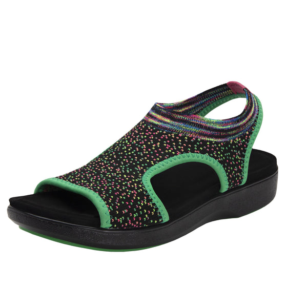 Qeen Funplex Lime slip on sandal with q-chip technology. QEE-5310_S1