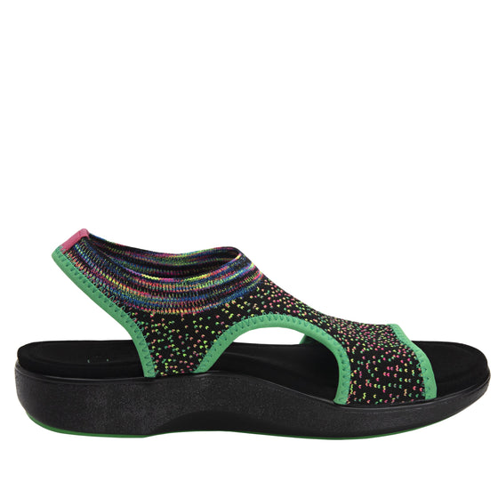 Qeen Funplex Lime slip on sandal with q-chip technology. QEE-5310_S2