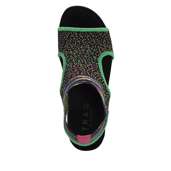 Qeen Funplex Lime slip on sandal with q-chip technology. QEE-5310_S4