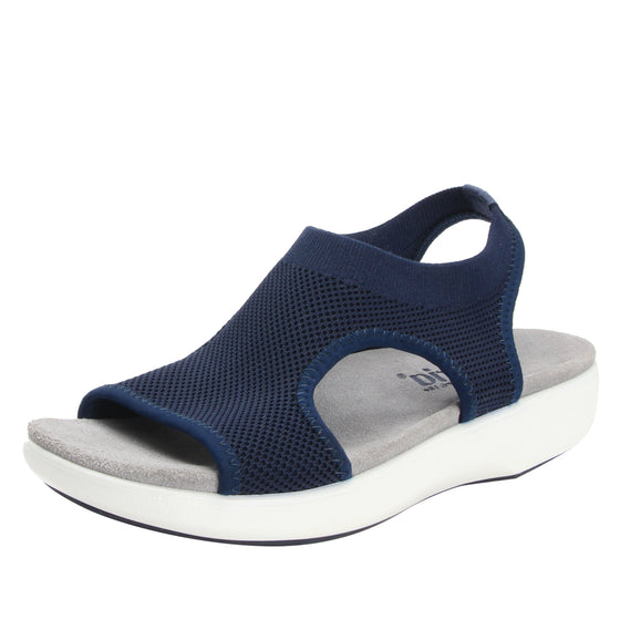 Qeen Navy slip on sandal with Q-chip™ technology. QEE-5410_S1