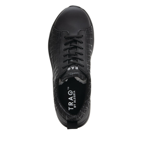 Qest Intersection Black lace up smart shoes with Q-chip™ technology. QES-5011_S4