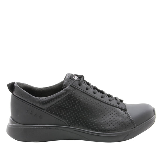 Qest Perf Black lace up smart shoes with Q-chip™ technology. QES-5019_S2