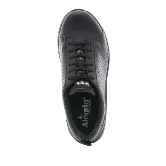 Qest Perf Black lace up smart shoes with Q-chip™ technology. QES-5019_S4