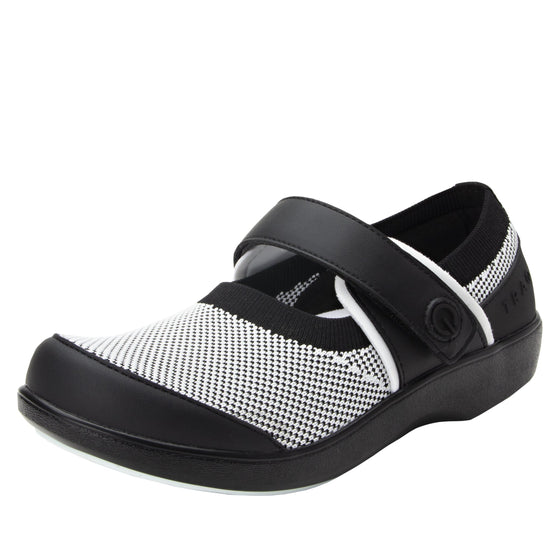 Qutie Black White mary jane shoes with Q-chip™ technology. QUT-5019_S1