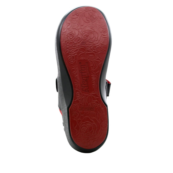 Qutie Red Black mary jane shoes with q-chip technology. QUT-5615_S5