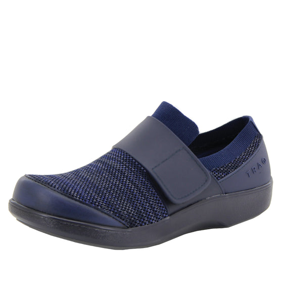 Qwik Navy Multi slip on smart shoes with Q-chip™ technology. QWI-5437_S1