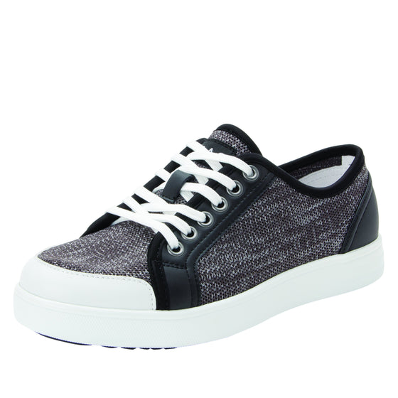Sneaq Washed Black sneaker style smart shoes with q-chip technology. SNE-5034_S1