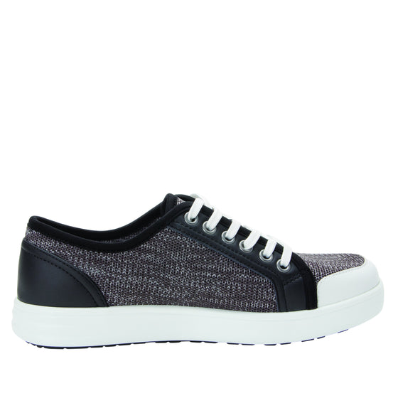 Sneaq Washed Black sneaker style smart shoes with q-chip technology. SNE-5034_S2