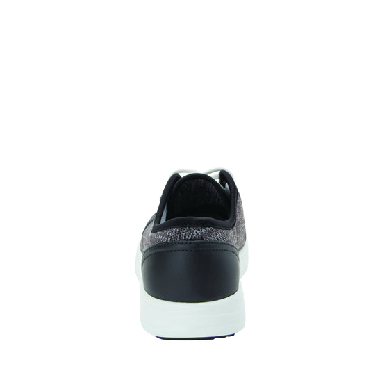 Sneaq Washed Black sneaker style smart shoes with q-chip technology. SNE-5034_S3