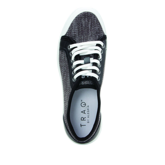 Sneaq Washed Black sneaker style smart shoes with q-chip technology. SNE-5034_S4