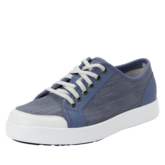 Sneaq Washed Blue sneaker style smart shoes with Q-chip™ technology. SNE-5405_S1