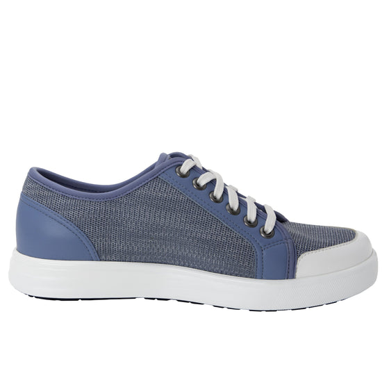 Sneaq Washed Blue sneaker style smart shoes with q-chip technology. SNE-5405_S2