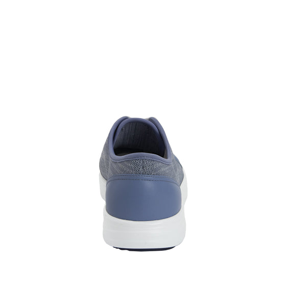 Sneaq Washed Blue sneaker style smart shoes with q-chip technology. SNE-5405_S3