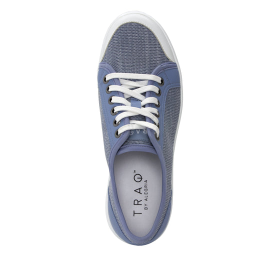 Sneaq Washed Blue sneaker style smart shoes with q-chip technology. SNE-5405_S4