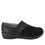 Qin Black Stretch smart slip on shoes with Q-Chip technology. QIN-5008_S2