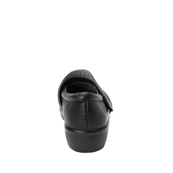 Qin Black Stretch smart slip on shoes with Q-Chip technology. QIN-5008_S3