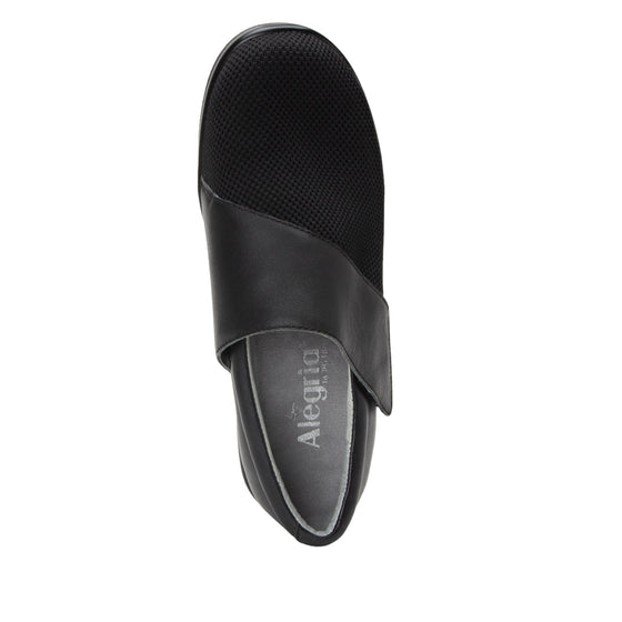 Qin Black Stretch smart slip on shoes with Q-Chip technology. QIN-5008_S4