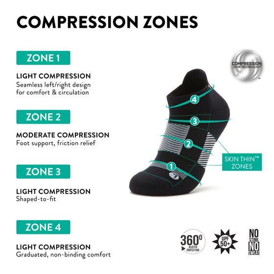 TRAQ Q-Flow arch compression socks built for performance and comfort. TRA-91702_S4