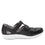Treq Black three adjustable strap shoes with Q-chip™ technology. TRE-5003_S2