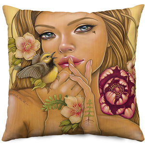 Gaia Reborn Throw Pillow