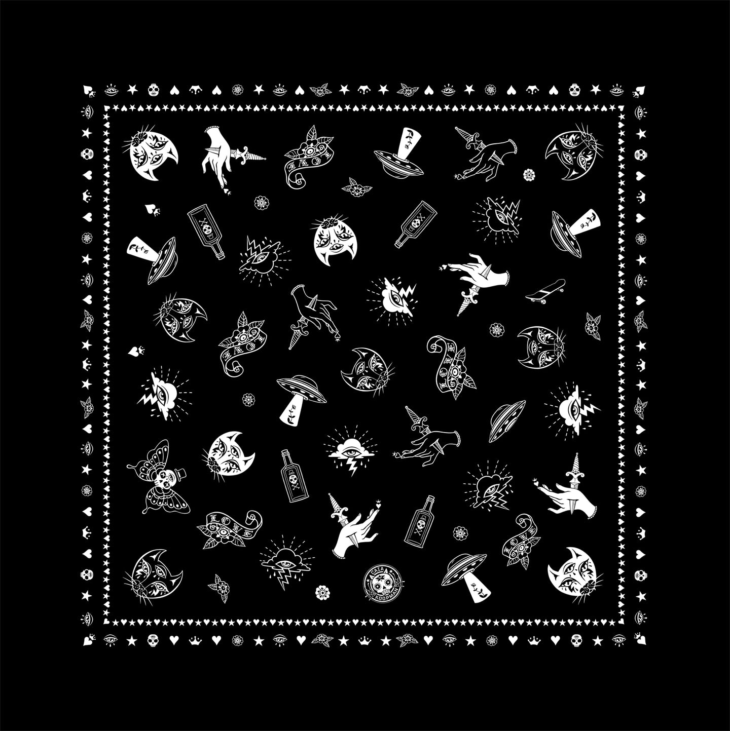 Intergalactic Cats Bandana Black