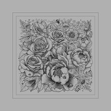 Load image into Gallery viewer, Botanical Blast Bandana Gray