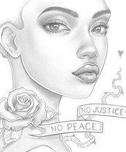 Load image into Gallery viewer, Justice Peace Original Drawing