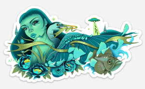 """Protect Oceans"" Sticker"