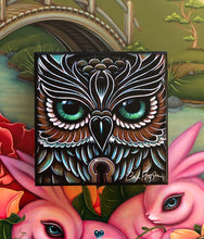 Load image into Gallery viewer, Owl Eyes Mini Print on Wood
