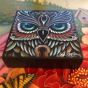 Owl Eyes Mini Print on Wood