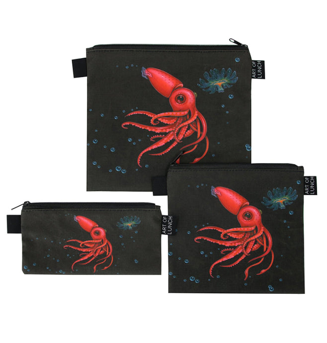 Strawberry Squid Lunch Baggies