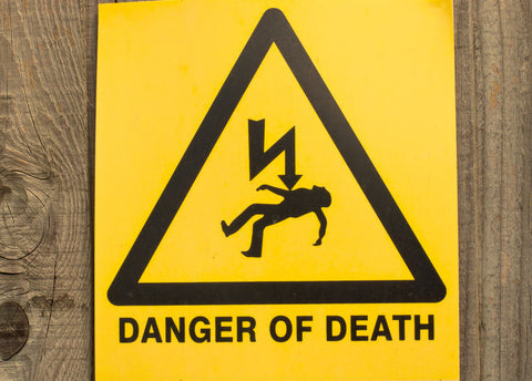 danger of death sign | shop now at The Sign Shed