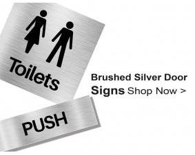 Shop For Brushed Silver Door Signs