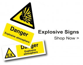 Shop For Gas & Explosive Chemical Hazard Signs