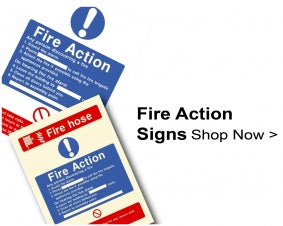 Shop Fire Action Signs