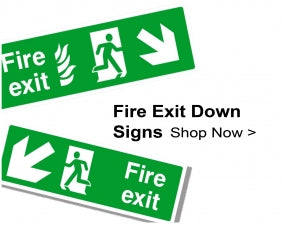 Shop For Fire Exit Signs With Down Arrows