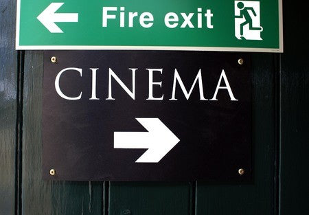 emergency exit sign in cinema | shop now at The Sign Shed