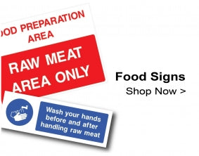 Food Safety, Catering & Hygiene Signs