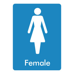 Download this free Female toilet sign here
