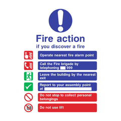 Download this free Fire Action sign here