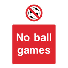 Download this No ball games sign here for free