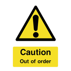 Download this free Caution Out of Order sign now